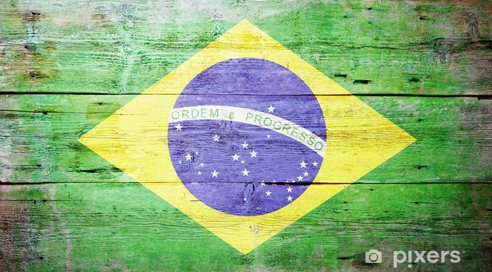 Vinyl Fotobehang Vlag van Brazilië - Brazilië