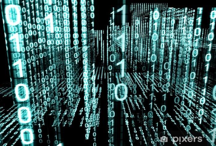 Sticker Pixerstick Résumé de fond la technologie 3d.Lenguaje binaire - Signes et symboles