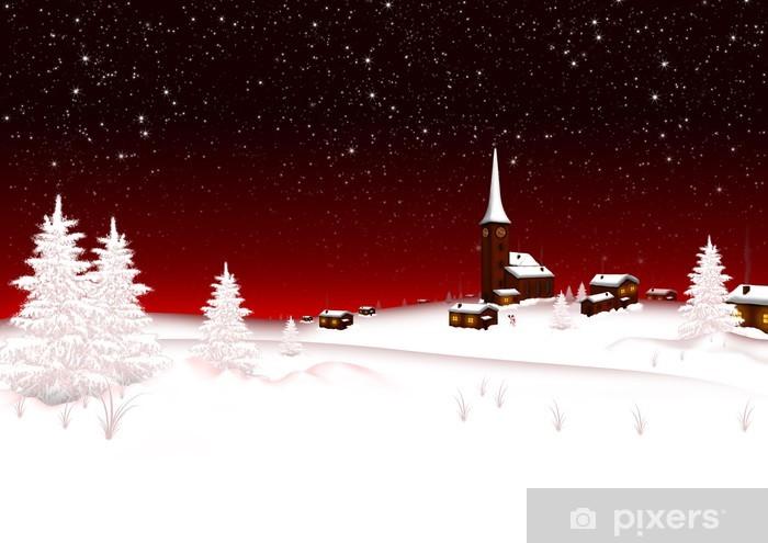 Hintergrund Weihnachten.Aufkleber Weihnachten Winter Hintergrund Vorlage Schneelandschaft Eis Pixerstick