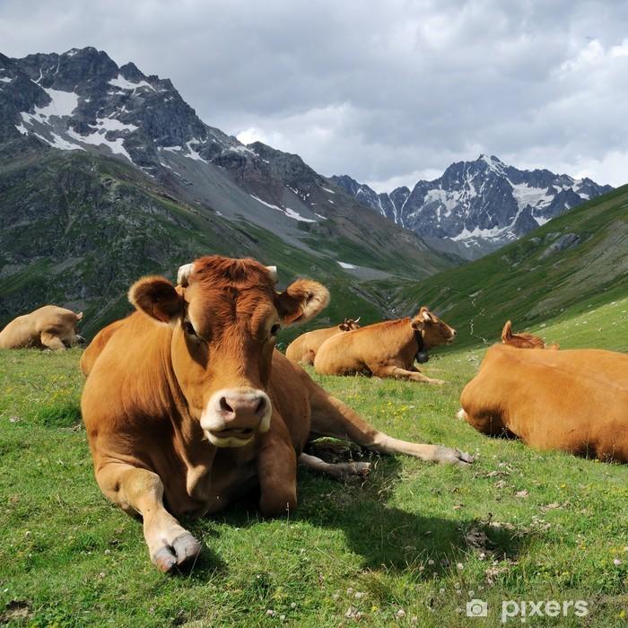 Sticker Pixerstick Alpes de vache - Mammifères