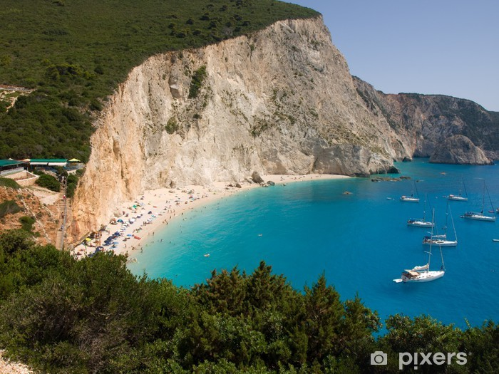 Nálepka Pixerstick Porto Katsiki pláž na ostrově Lefkada, Řecko - Voda