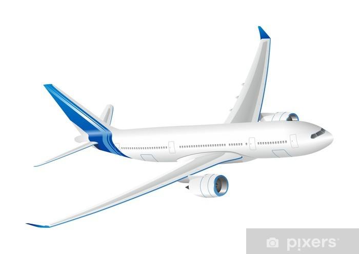 Sticker Pixerstick Vecteur avion - Dans les airs