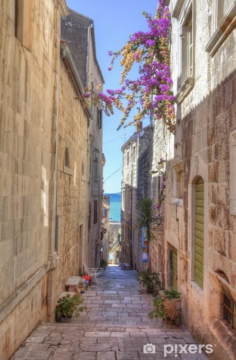 Fototapeta winylowa Street of Korcula, Wyspa Korcula, Chorwacja - Tematy