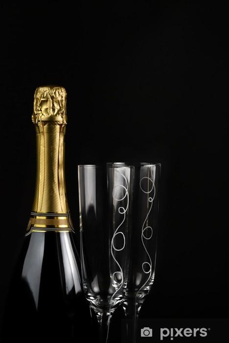 Sticker Pixerstick Champagne - Alcool