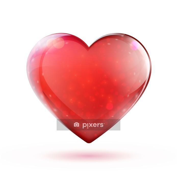 Adesivo da Parete Cuore rosso lucido - Segni e Simboli