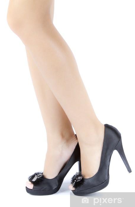 Naklejka Pixerstick Kobieta kobieta nogi na wysokich obcasach - Tematy