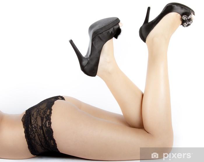 Carta da Parati in Vinile Donna gambe femminili con i tacchi alti