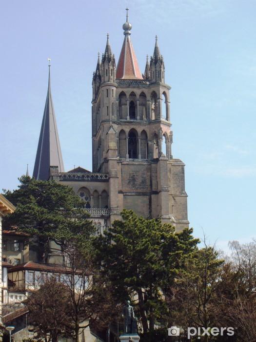 Naklejka Pixerstick Katedra w Lozannie - Budynki użyteczności publicznej