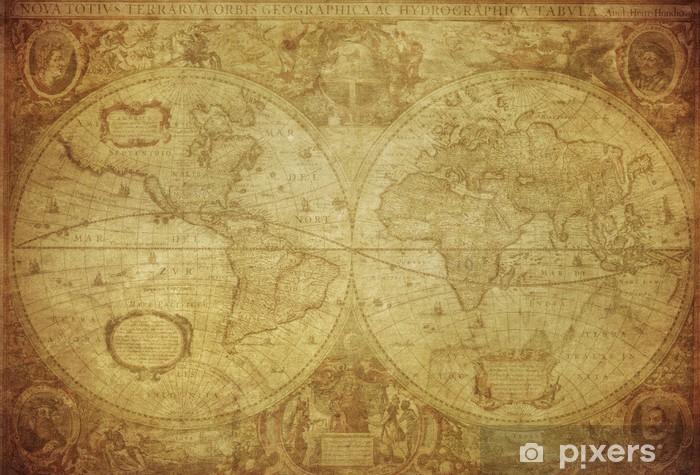 Naklejka Pixerstick Vintage, mapa świata 1630 .. - Tematy