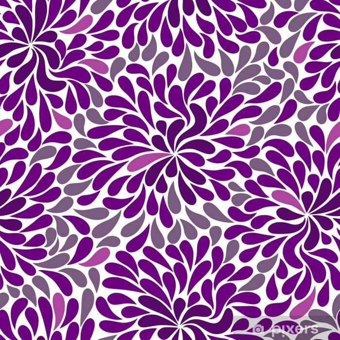 Naklejka Pixerstick Powtarzalny wzór fioletowy - Tła