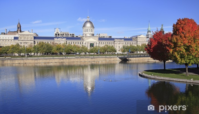 Fototapeta winylowa Old Montreal, Bonsecours Basin refleksje jesienią - Ameryka