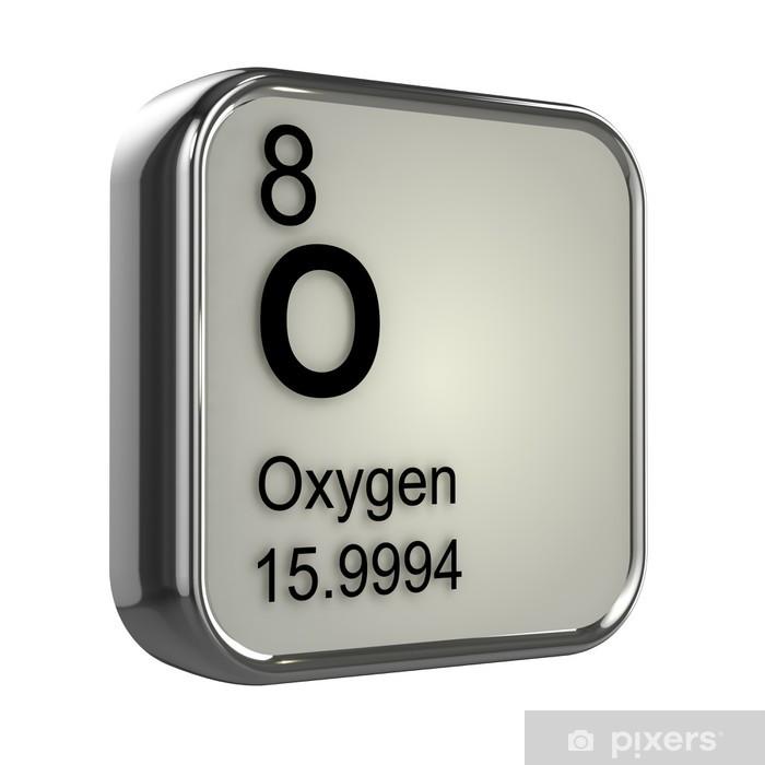 3d Periodic Table 8 Oxygen Window Glass Sticker Pixers We