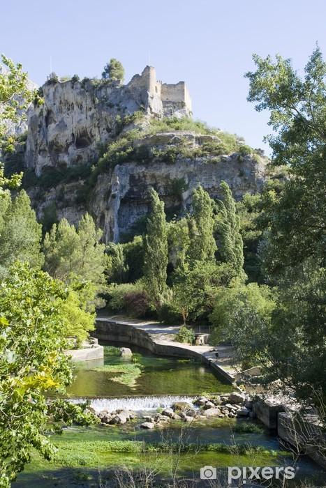 Papier peint vinyle Vieux château ruine à Fontaine de Vaucluse - Europe