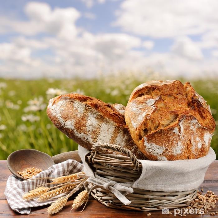 Plakat w ramie Świeżo upieczony chleb tradycyjny - Ryż