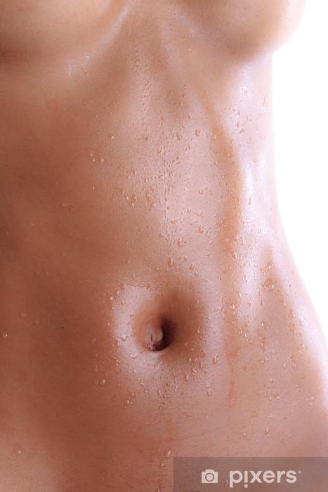 Naklejka Pixerstick Mokry brzuch czarny nagie młoda kobieta - Tematy