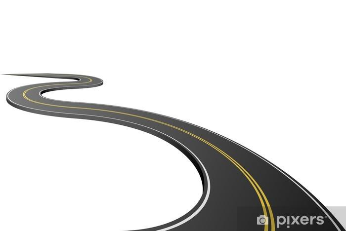 Fototapeta winylowa Abstract asfalt na białym - Koncepcje biznesowe
