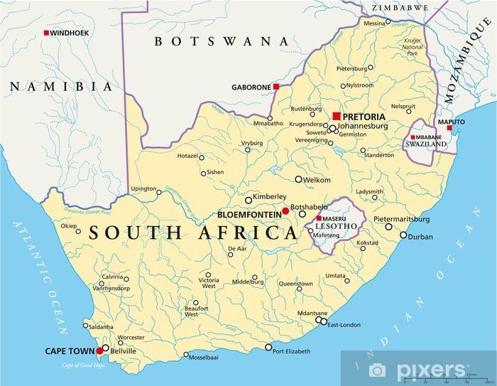 Etela Afrikka Kartta Sudafrika Landkarte Tapetti Pixers