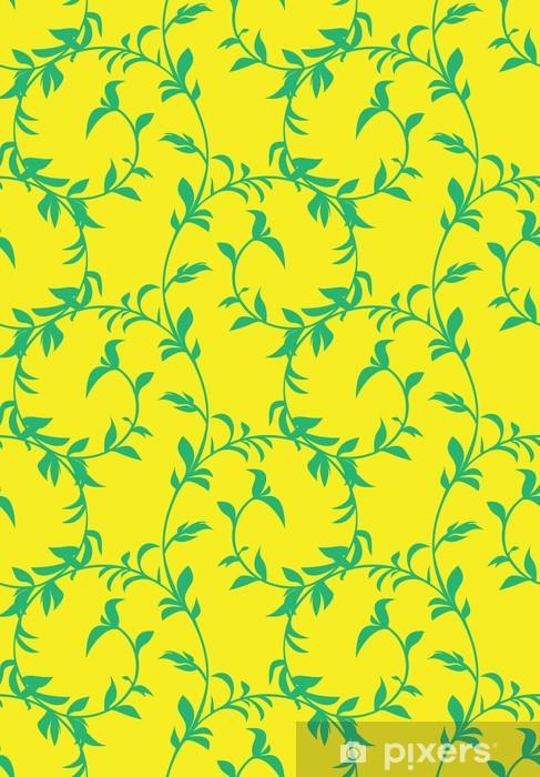 Naklejka Pixerstick Bezszwowe tle kwiatów - Tła
