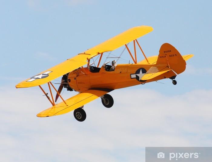 Sticker Pixerstick Vol de biplan. - Avions