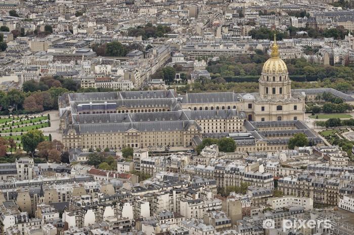 Papier Peint Vue Des Invalides Palais De La Tour Eiffel Paris