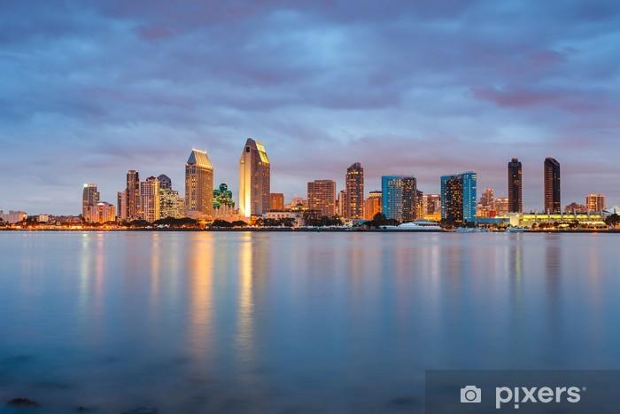 San Diego at night Pixerstick Sticker - America
