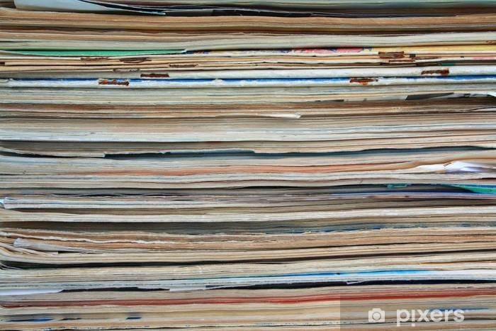 Sticker Pixerstick Vieux journaux - Lecture
