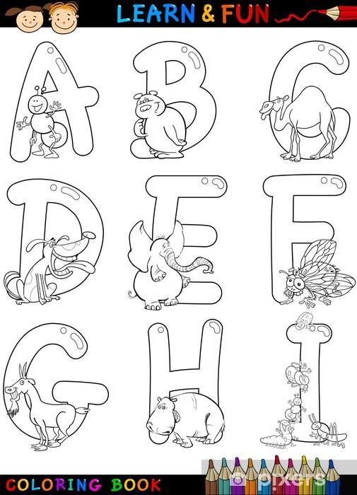Kostenlos mit tieren buchstaben ausmalbilder Kinder Malvorlagen