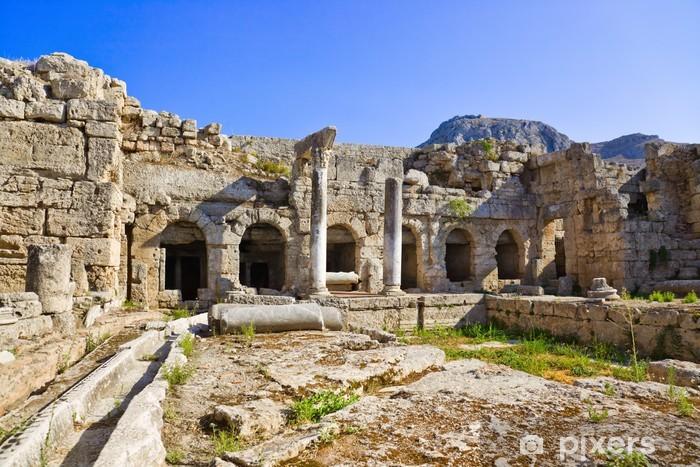 Naklejka Pixerstick Ruiny w Koryncie, Grecja - Grecja