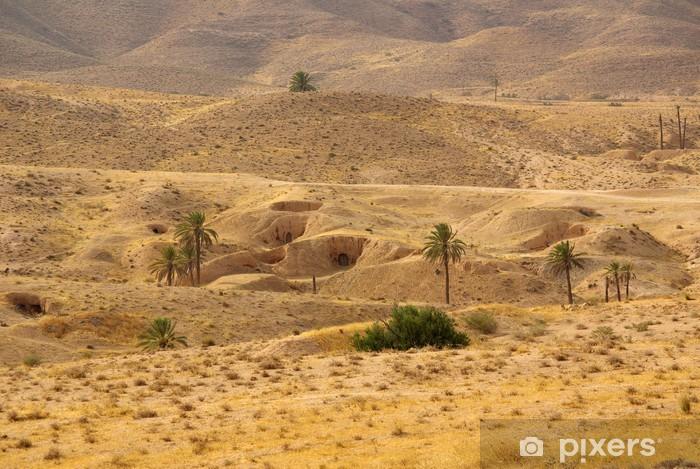 Papier peint h bergement berb res troglodytes autour de matmata tunisie pixers nous vivons for Papier peint tunisie