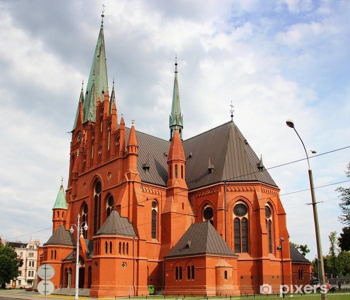 Naklejka Pixerstick Kościół Świętej Katarzyny w Toruniu - Europa