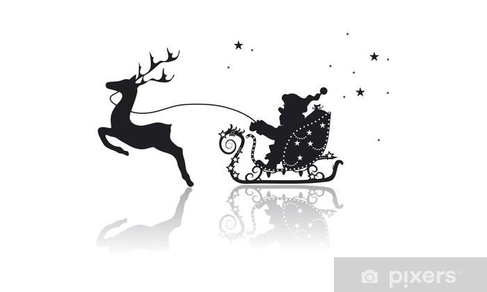 Immagini Renne Natale.Carta Da Parati In Vinile Babbo Natale In Slitta Con Renne