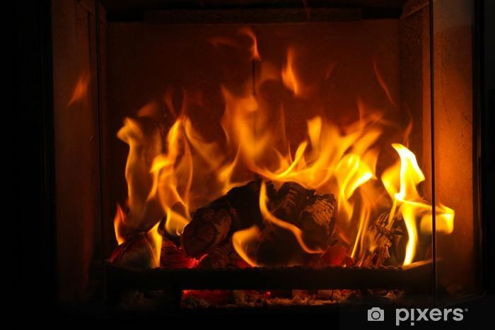 Fototapeta winylowa Przytulny ogień - iStaging