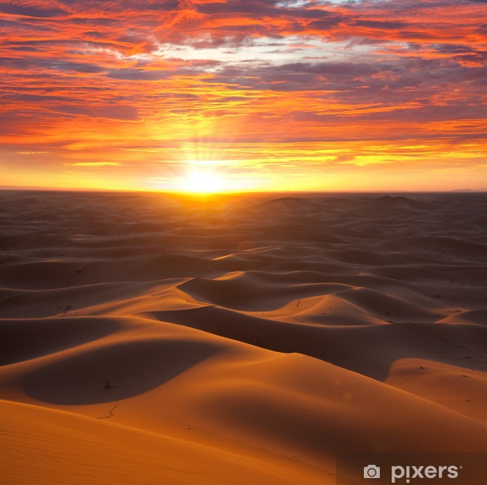 Pixerstick Sticker Woestijn op zonsondergang - Thema's