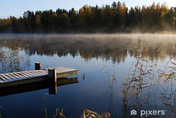 Vinyl-Fototapete Schweden im Herbst - Wasser