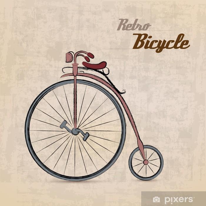 Adesivo Retro Bicicletta Depoca Pixers Viviamo Per Il Cambiamento