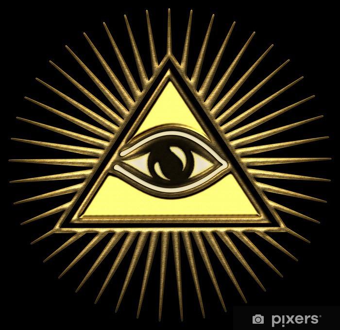 Allsehendes Auge Gottes - Pyramide - Trinität Door Sticker - Science