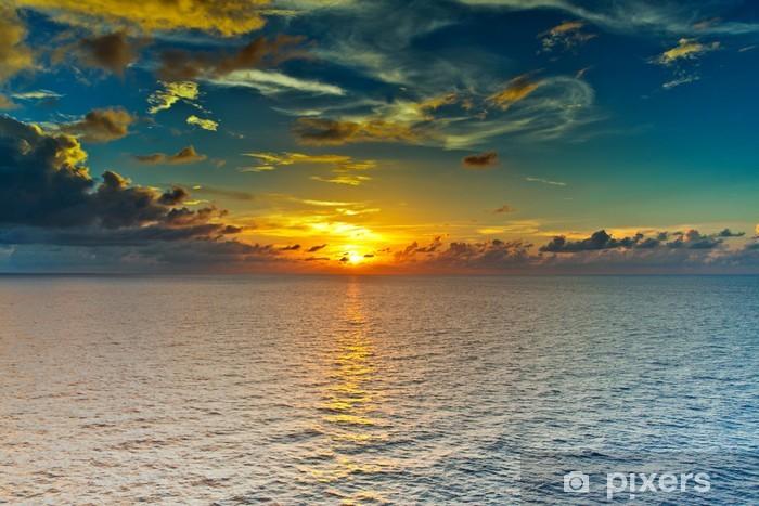 Coucher De Soleil Sur La Mer Wall Mural Pixers We Live To Change