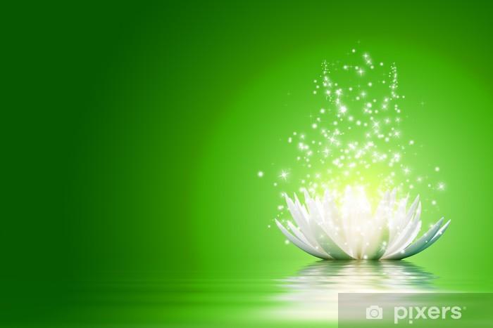 Naklejka Pixerstick Kwiat lotosu - Tła