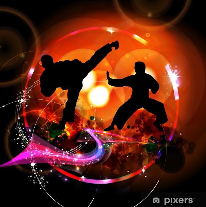 Fototapet av Vinyl Karate illustration - Teman