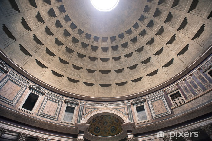 Interior view of the dome of the Pantheon in Rome, Italy. Vinyl Wall Mural - European Cities