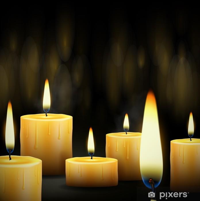 Polttamalla kynttilöitä Pixerstick tarra - Koti Ja Puutarha