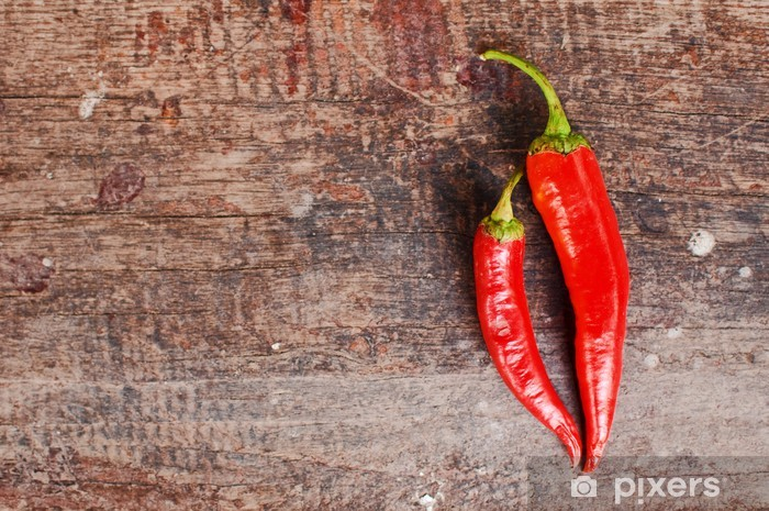 Papier peint vinyle Chili pepper - Légumes