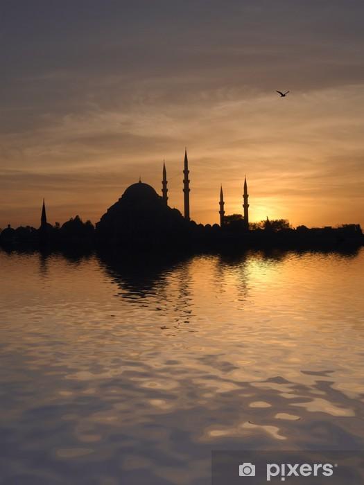 Sticker Pixerstick Mosquée de Suleymaniye au coucher du soleil - Europe