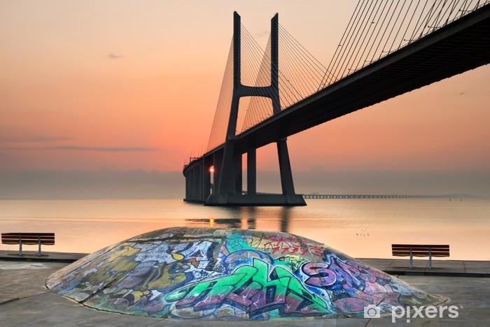 Papier peint vinyle Skatepark Vasco de Gama, Lisbonne - Villes européennes
