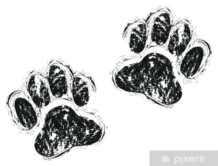 dog paws Washable Wall Mural - Themes