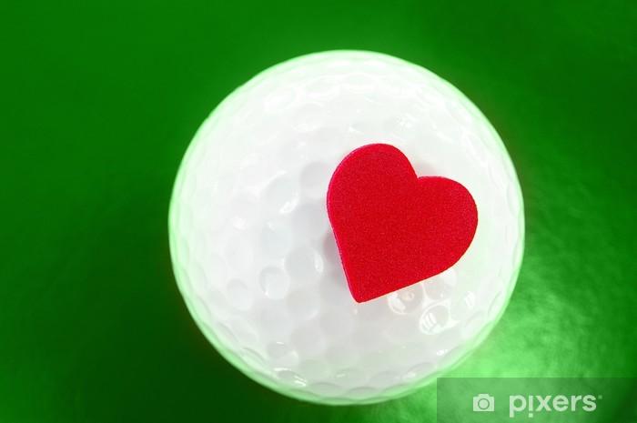Vinilo Pixerstick Golf corazón - Deportes individuales