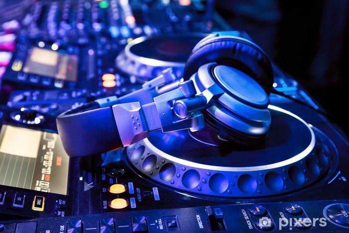Dj mixer with headphones Pixerstick Sticker - Music