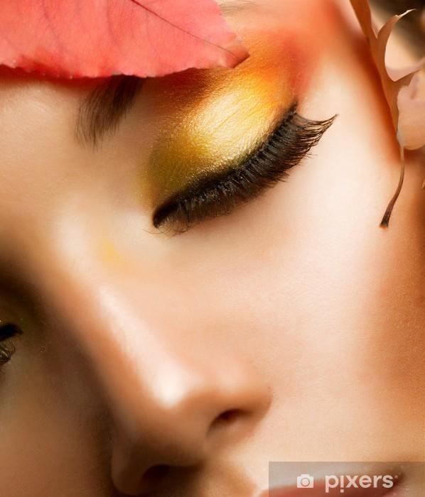 Autumn Makeup  Professional Fall Make-up Closeup Sticker - Pixerstick