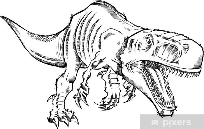 Kroki Tyrannosaurus Rex Dinozor T Rex Duvar Resmi Pixers
