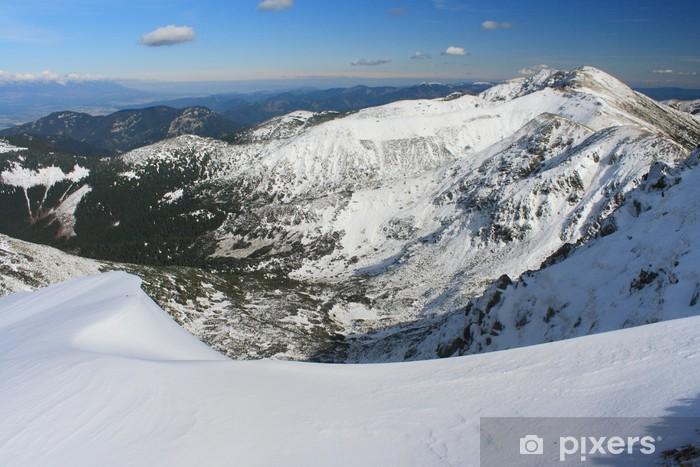 Papier peint vinyle Basses Tatras en début de l'hiver - Thèmes